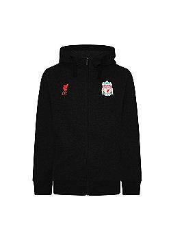 Liverpool FC Mens Zip Hoody - Black