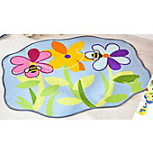 Flower Bed Rug 100 x 120 cm