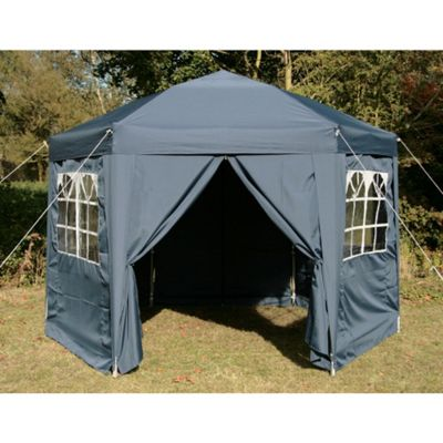 Airwave Hexagon Pop Up Gazebo Fully Waterproof 3.5m in Blue