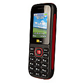 TTsims Dual Sim TT120 Mobile Phone with Camera and Bluetooth - Red