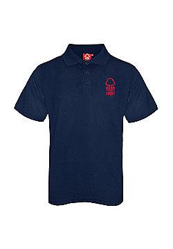 Nottingham Forest FC Boys Crest Polo Shirt - Navy
