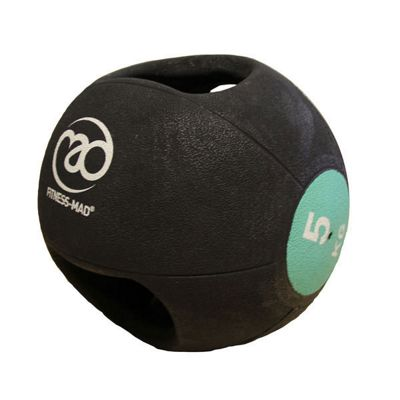 Fitness-MAD 5kg Double Grip Medicine Ball