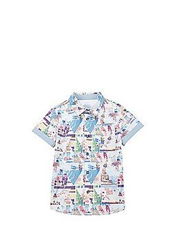 F&F LA Doodle Print Short Sleeve Shirt - Multi
