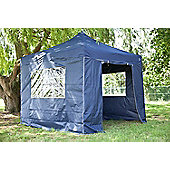 All Seasons Gazebos, Heavy Duty, Fully Waterproof, 3m x 3m Standard Pop up Gazebo Package in Navy Blue