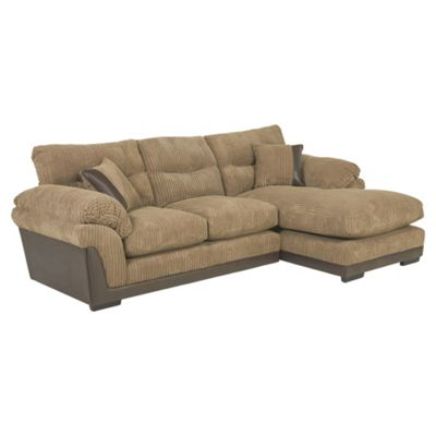 Kendal Jumbo Cord Right Hand Corner Chaise, Taupe