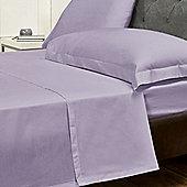 Julian Charles Luxury 180 Thread Count Flat Sheet - Purple