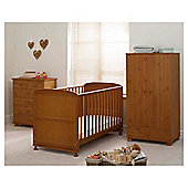 Saplings Harper 3 piece Nursery Room Set, Antique Pine