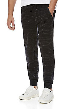 F&F Space Dye Textured Joggers - Black