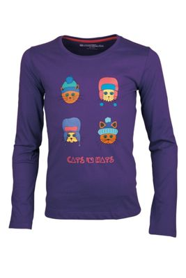 Cats In Hats Long Sleeve Kids Tee