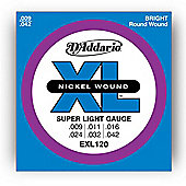D'Addario EXL120 Electric Guitar Strings - Super Light