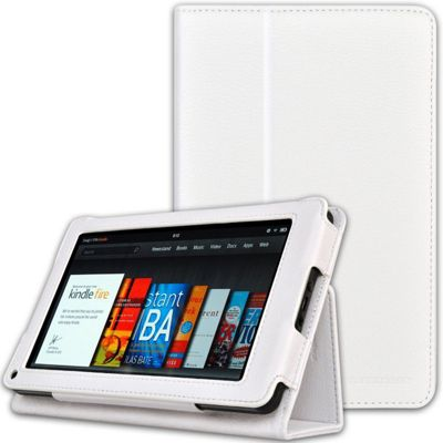 U-bop Neo-Orbit Midi Flip Case White - For Amazon Kindle Fire HD