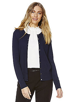 F&F Stretch Cardigan with As New Technology - Navy