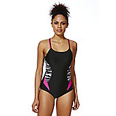 F&F Active Double Strap Swimsuit - Black