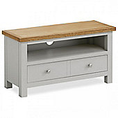 Farrow Painted 90cm TV Stand - Matt Stone Grey