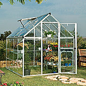 Palram Harmony 6x8 -Silver Greenhouse - Polycarbonate and Aluminium Frame