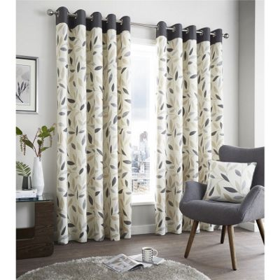 Fusion Beechwood Green Curtains 46x54 Inches (117x137cm)