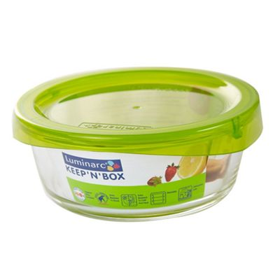 Luminarc Keep 'N' Box Food Storage Container with Lid, 63cl, Round