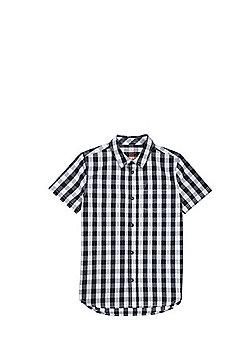 F&F Gingham Short Sleeve Shirt - Black & White