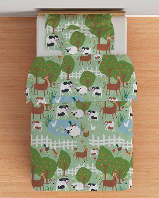 Le Farm Single Duvet Cover Set with Pillowcase