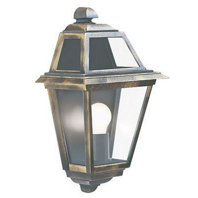 NEW ORLEANS OUTDOOR WALL LIGHT 1 LIGHT BLACK/GOLD