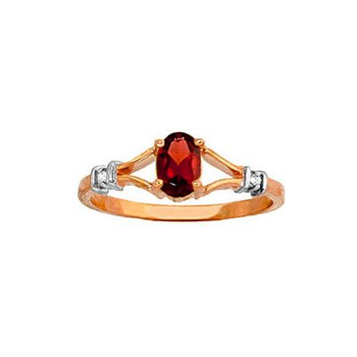 QP Jewellers Diamond & Garnet Aspire Ring in 14K Rose Gold - Size D