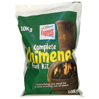 Fuel Express Chiminea Fuel Kit, 10kg