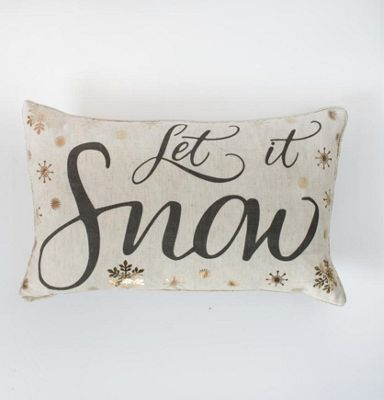 Gallery Let it Snow Metallic Printed Cushion