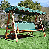 Outsunny 3 Seater Wooden Swing Chair