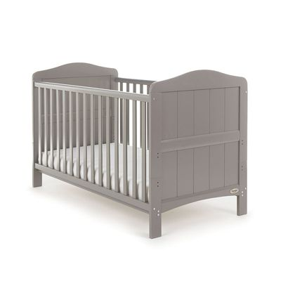 Obaby Whitby Cot Bed and Sprung Mattress - Taupe Grey