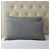 Fox & Ivy Egyptian Cotton Housewife Pillow Case - Charcoal