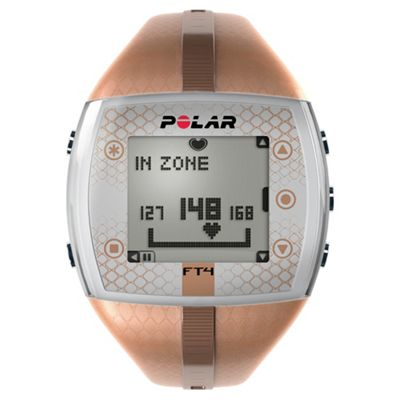 Polar FT4 Sports Watch/Heart Rate Monitor, Brown