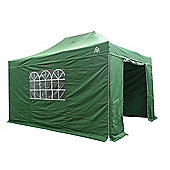All Seasons Gazebos, Heavy Duty, Fully Waterproof, 3m x 4.5m Superior Pop up Gazebo Package in Green