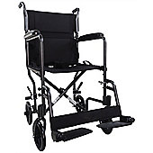 Aidapt Aluminium Compact Transport Wheelchair in Hammered Effect