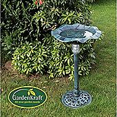 GardenKraft Bird bath with Solar Light Garden Feature