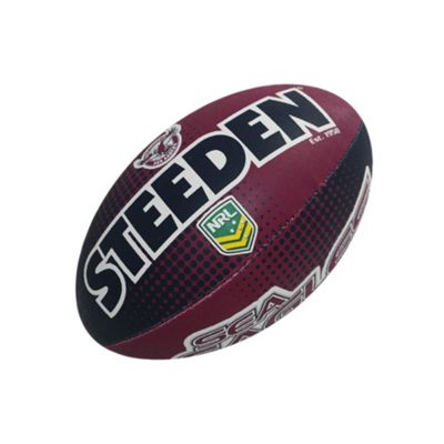 Steeden NRL Manly Sea Eagles 2018 Supporter Rugby League Ball - 5