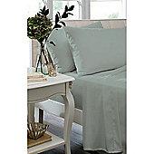 Catherine Lansfield Caramel Flat Sheet - - Duck egg blue