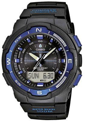 Casio Sports Gear Mens Black Compass Watch SGW-500H-2BVER