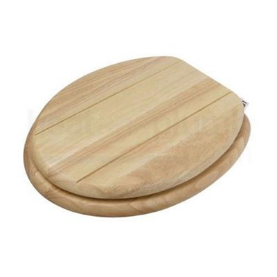 Croydex Wl521276 Maine Toilet Seat Light Wood