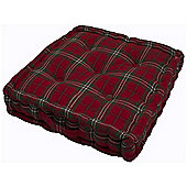 Homescapes Armchair Booster Cushion Edward Tartan Design Cotton