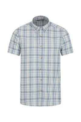 Mountain Warehouse Weekender Short Sleeved Mens Shirt - 100% Cotton -