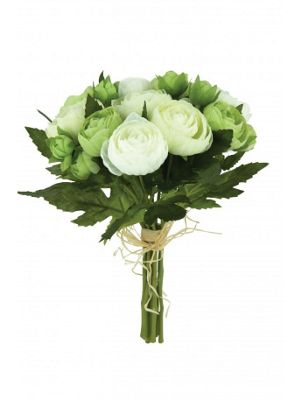 Artificial - Ranunculus Bundle Mix - Cream & Green