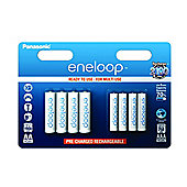 Panasonic Eneloop Rechargeable AA 1900mAh and AAA 750mAh Batteries 4+4 pack