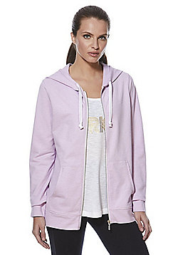 F&F Active Metallic Flecked Zip-Through Hoodie - Lilac