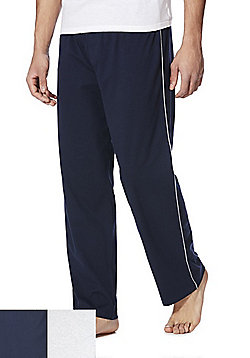 F&F 2 Pack of Lounge Pants - Navy & Grey