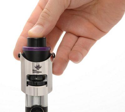 Bar Amigos Champagne Prosecco Sparkling Wine Pressure Stopper - Purple