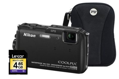 Nikon Coolpix AW110 Black Camera Kit inc 4GB SD Card and Case