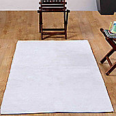 Homescapes Chenille Plain Cotton Extra Large Rug Natural, 110 x 170 cm