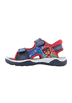 Boys P J Masks Blue Sports Beach Sandals Hook & Loop Sizes UK 5-10 - Blue