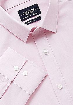 F&F Easy Care Regular Fit Shirt - Pink