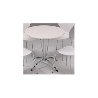 Furniture Link Soho Round Dining Table in White